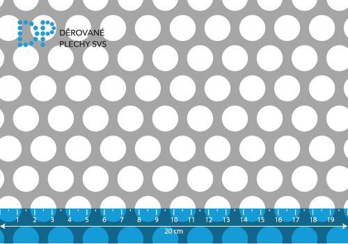 Děrovaný plech hliníkový Rv 15-20