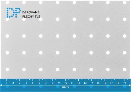 Děrovaný plech pozinkovaný RG 5-25