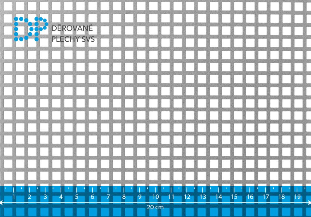Děrovaný plech hliníkový Qg 5-7,5
