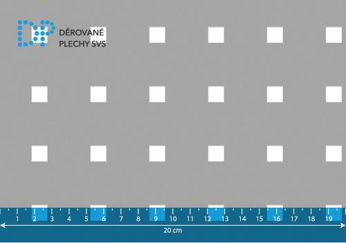 Děrovaný plech pozinkovaný Qg 9,2-34