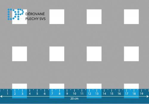 Děrovaný plech pozinkovaný Qg 20-50