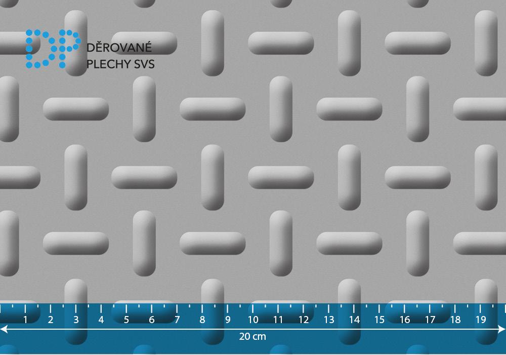 Lisovaný plech nerezový oválný vzor B5