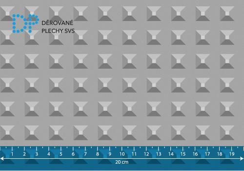 Lisovaný plech ocelový pyramida vzor B6
