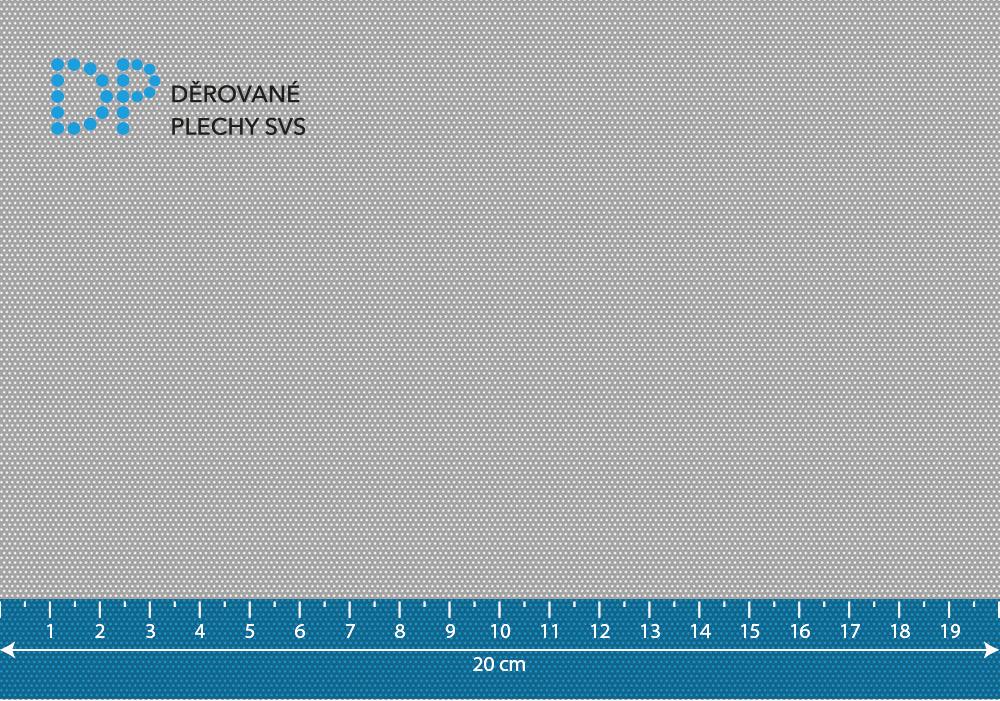 Děrovaný plech nerezový Rv 0,5-1,09