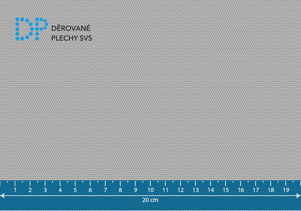 Děrovaný plech nerezový Rv 0,5-1,5