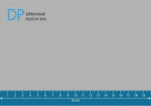 Děrovaný plech nerezový Rv 0,8-1,5