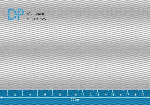 Děrovaný plech ocelový Rv 1-1,5