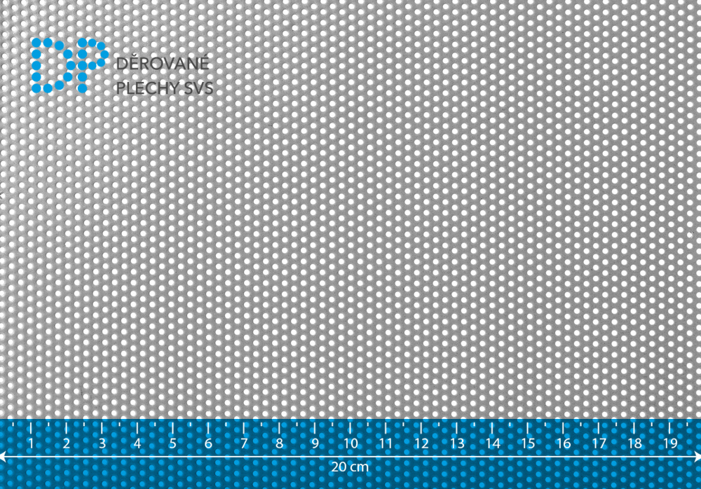 Děrovaný plech hliníkový Rv 1,5-3