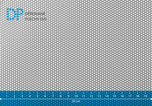 Děrovaný plech nerezový Rv 1,5-3