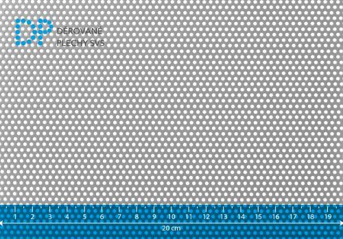Děrovaný plech hliníkový Rv 2-3,5