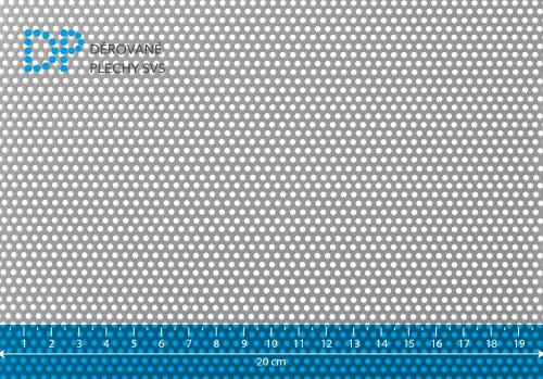 Děrovaný plech ocelový Rv 2-3,5