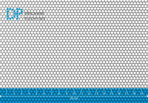 Děrovaný plech hliníkový Rv 3-4