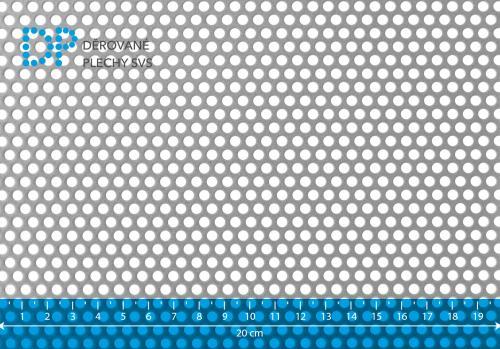 Děrovaný plech hliníkový Rv 4-6