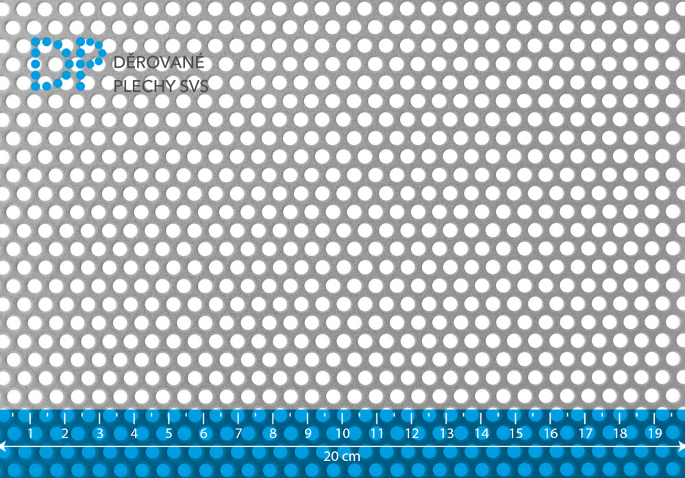 Děrovaný plech ocelový Rv 4-6