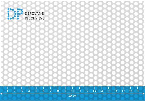 Děrovaný plech pozinkovaný Rv 5-7
