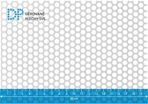 Děrovaný plech nerezový Rv 6-8