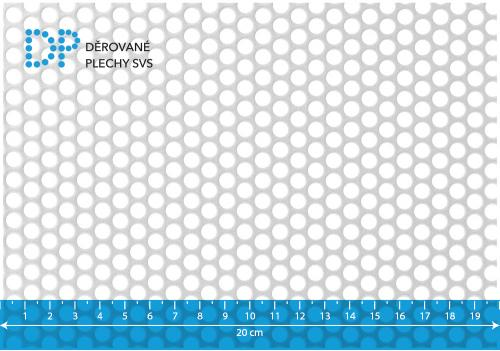 Děrovaný plech pozinkovaný Rv 6-8