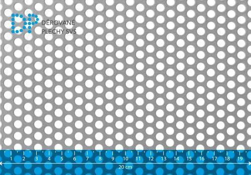 Děrovaný plech hliníkový Rv 6-9
