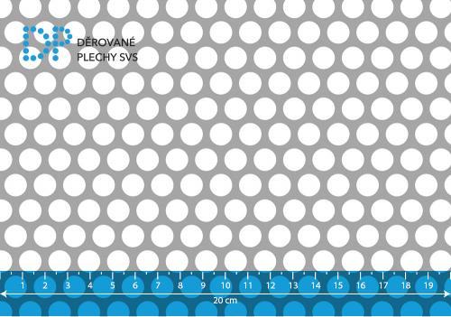 Děrovaný plech hliníkový Rv 10-13