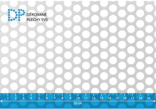Děrovaný plech hliníkový Rv 10-14